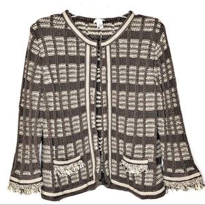 CHICO'S 3/4 sleeve light brown cardigan | Size 3
